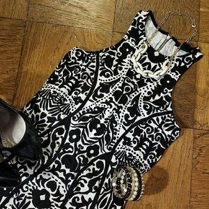 H&M black & white dress - size S